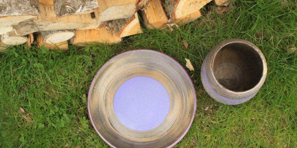 Lavendelblauw bord