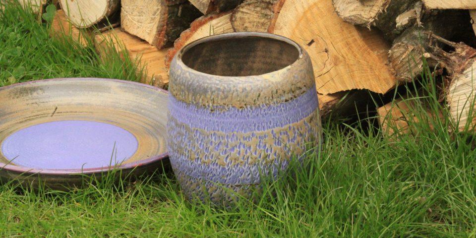 Lavendelblauwe vaas